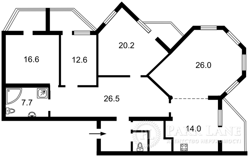 Квартира ул. Машиностроительная, 2в, Чабаны, X-27885 - Фото 2