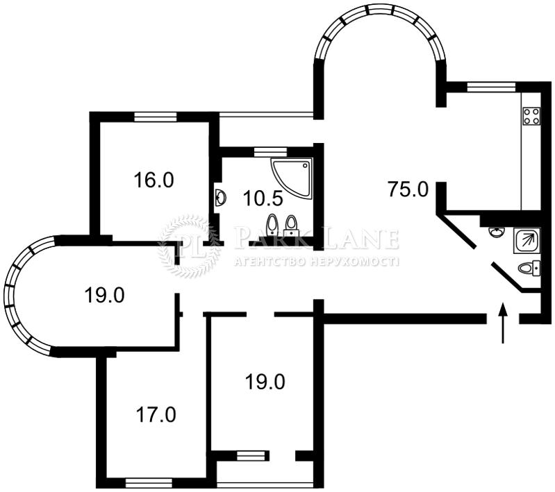 Квартира ул. Дмитриевская, 69, Киев, B-91633 - Фото 2
