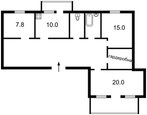 Квартира Z-1572734, Тимошенко Маршала, 18, Киев - Фото 7
