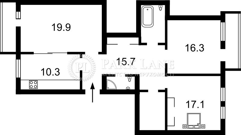 Квартира ул. Гарматная, 21/30, Киев, X-11244 - Фото 2