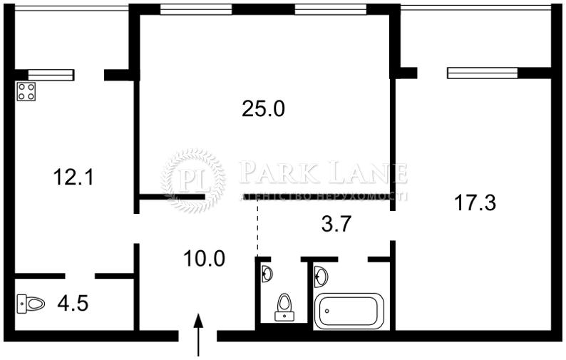 Квартира ул. Гмыри Бориса, 3, Киев, Z-1256144 - Фото 2