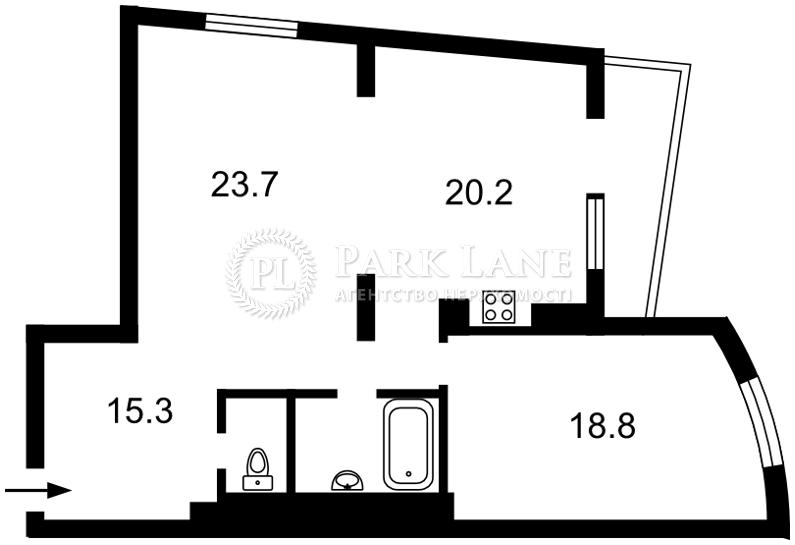 Квартира ул. Окипной Раиcы, 10а, Киев, Z-954318 - Фото 2
