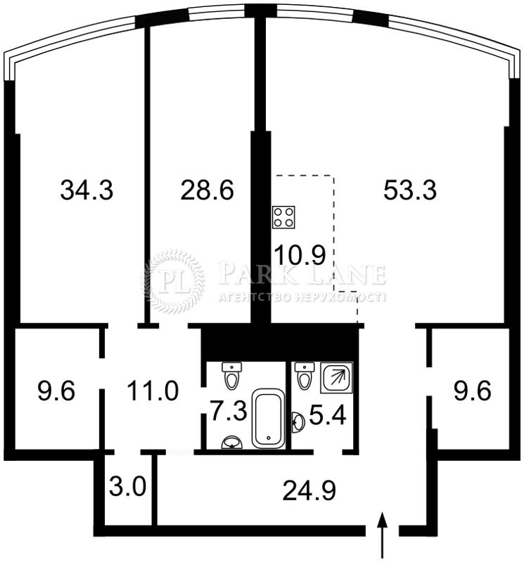 Квартира Кловський узвіз, 7, Київ, Z-1762457 - Фото 2