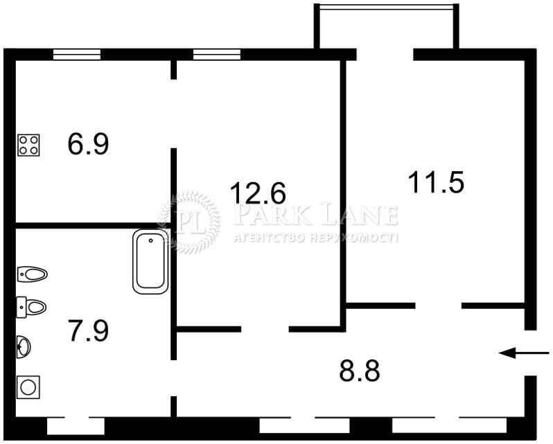 Квартира ул. Саксаганского, 63/28, Киев, N-16504 - Фото 2