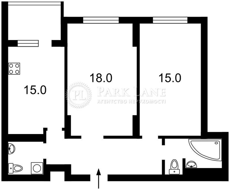 Квартира вул. Хоткевича Гната (Червоногвардійська), 10, Київ, Z-1677828 - Фото 2