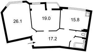 Квартира Z-1786012, Митрополита Андрея Шептицкого (Луначарского), 10, Киев - Фото 4