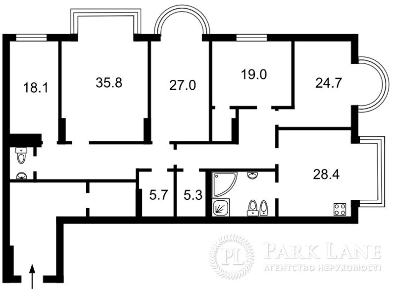 Квартира ул. Институтская, 18-а, Киев, J-22062 - Фото 2
