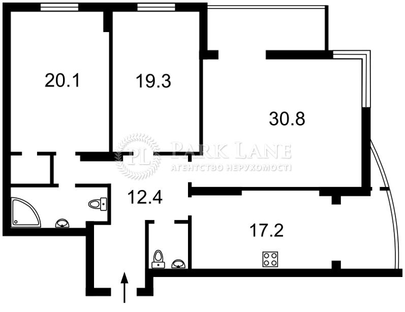 Квартира Лобановского просп. (Краснозвездный просп.), 4в, Киев, K-22553 - Фото 2