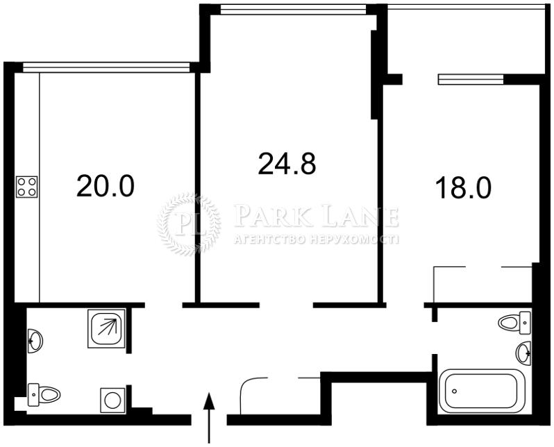 Квартира ул. Драгомирова Михаила, 3, Киев, L-23331 - Фото 2