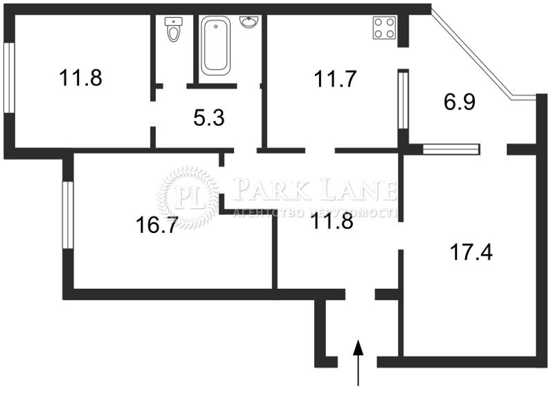 Квартира ул. Ломоносова, 83а, Киев, Z-1828058 - Фото 2