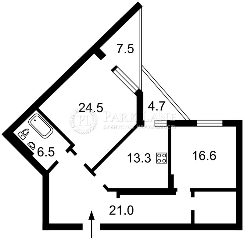Квартира ул. Коновальца Евгения (Щорса), 44а, Киев, N-16828 - Фото 2