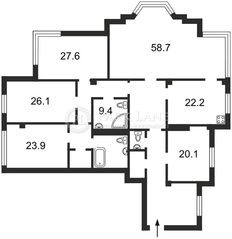 Квартира ул. Грушевского Михаила, 9а, Киев, J-22480 - Фото 2