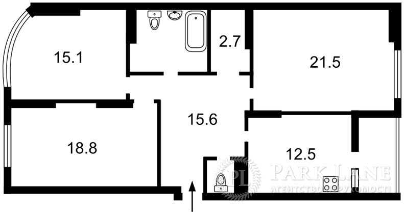 Квартира ул. Ахматовой, 22, Киев, X-34972 - Фото 2