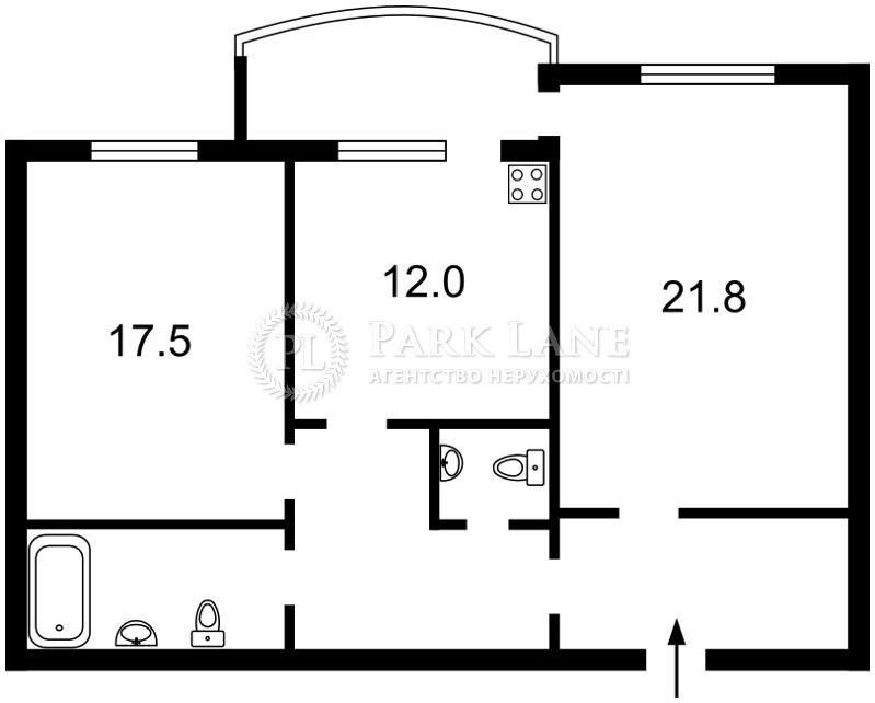 Квартира Героев Сталинграда просп., 10а, Киев, X-35678 - Фото 2