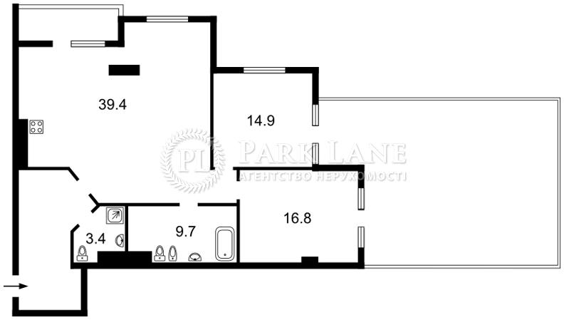 Квартира ул. Саксаганского, 70а, Киев, L-23494 - Фото 2