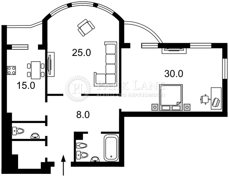 Квартира ул. Панаса Мирного, 17, Киев, Z-1750549 - Фото 2