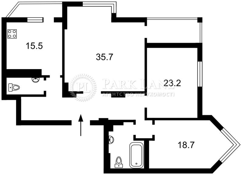 Квартира ул. Соломенская, 15а, Киев, X-32200 - Фото 2