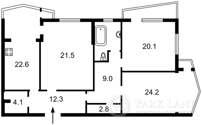 Квартира ул. Сечевых Стрельцов (Артема), 52а, Киев, Z-1861057 - Фото 2
