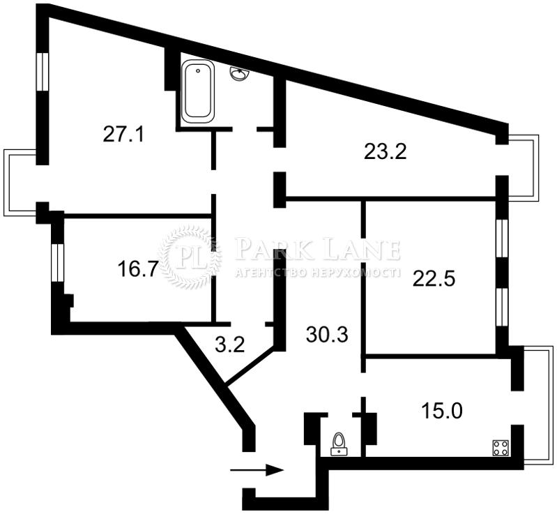 Квартира ул. Большая Житомирская, 25/2, Киев, J-23009 - Фото 2