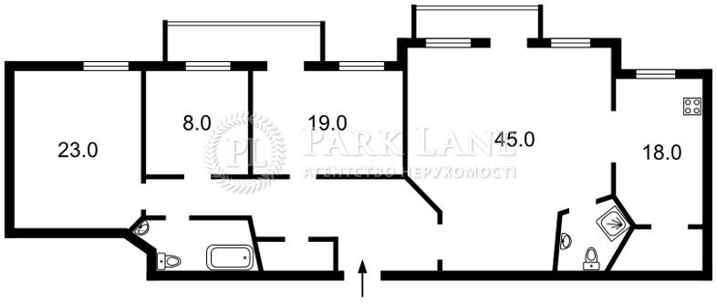 Квартира ул. Толстого Льва, 11/61, Киев, N-17385 - Фото 2