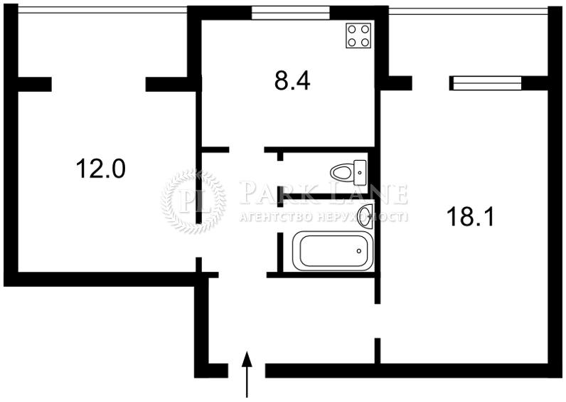Квартира ул. Драгоманова, 23а, Киев, B-81850 - Фото 2