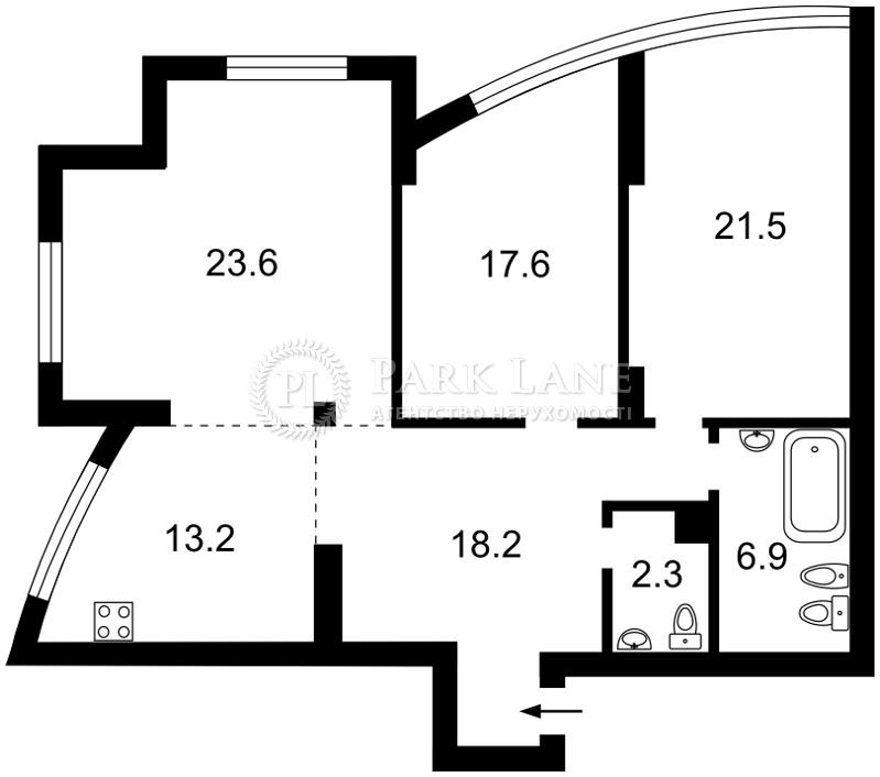 Квартира Героев Сталинграда просп., 2г корп.2, Киев, R-684 - Фото 2