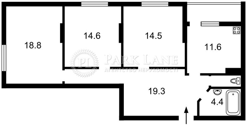 Квартира Тбилисский пер., 1, Киев, Z-38324 - Фото 2