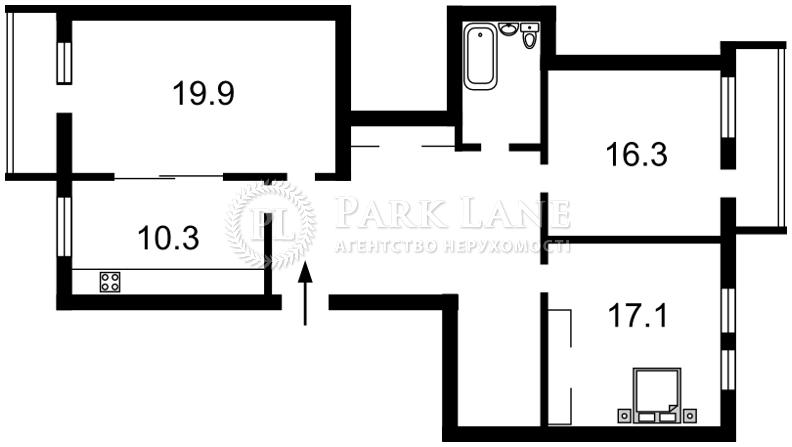 Квартира X-7509, Гарматная, 18, Киев - Фото 2