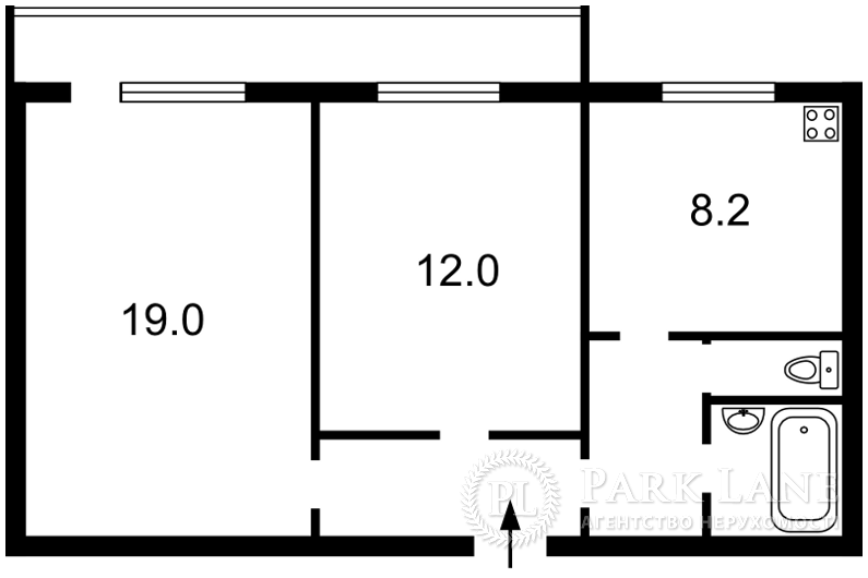 Квартира ул. Никольско-Слободская, 6/2, Киев, Z-1853016 - Фото 2