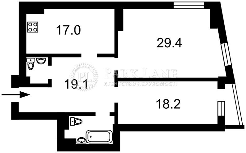 Квартира ул. Деловая (Димитрова), 2б, Киев, Z-65039 - Фото 2