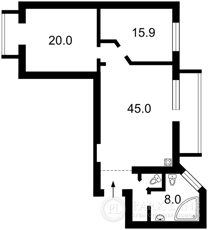 Квартира ул. Малая Житомирская, 5, Киев, Z-1439376 - Фото 2