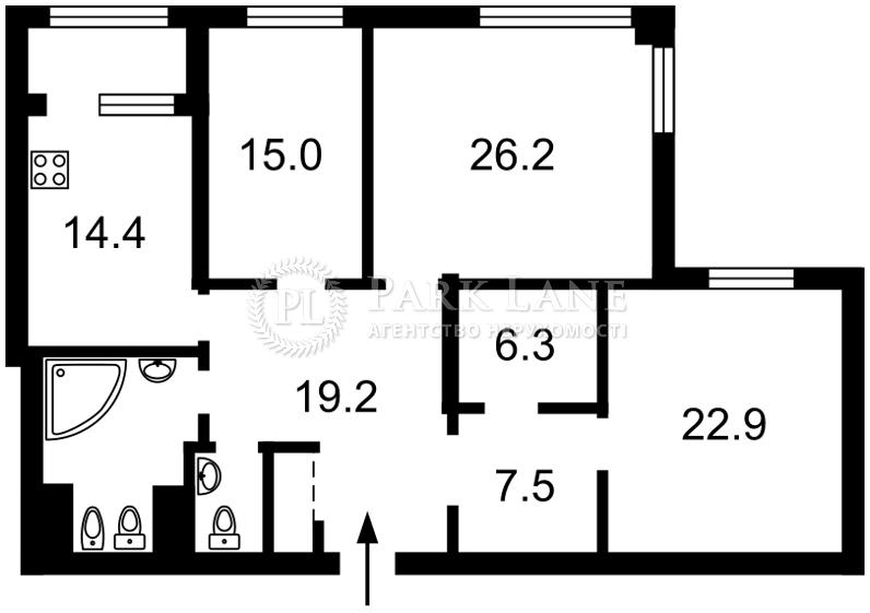 Квартира ул. Срибнокильская, 3в, Киев, Z-2490 - Фото 2