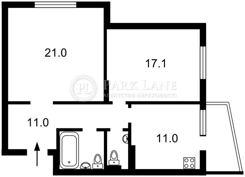 Квартира ул. Сикорского Игоря (Танковая), 4б, Киев, Z-75623 - Фото 2