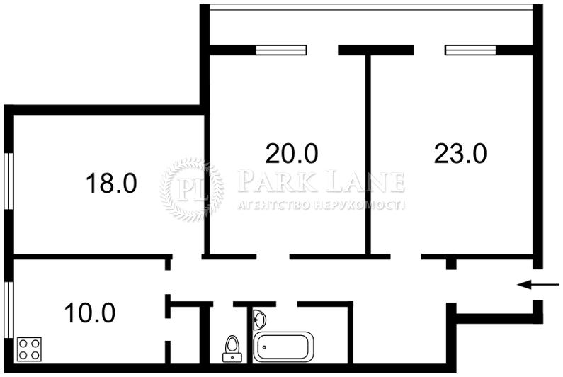 Квартира ул. Нестайко Всеволода (Мильчакова А.), 3, Киев, R-3918 - Фото 2