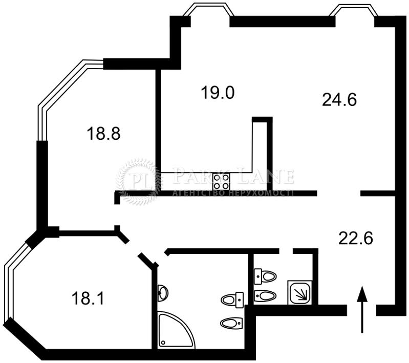 Квартира Кловский спуск, 5, Киев, Z-1841672 - Фото 2