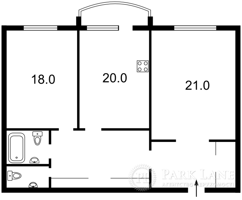 Квартира Героев Сталинграда просп., 8 корпус 3, Киев, M-31260 - Фото 2