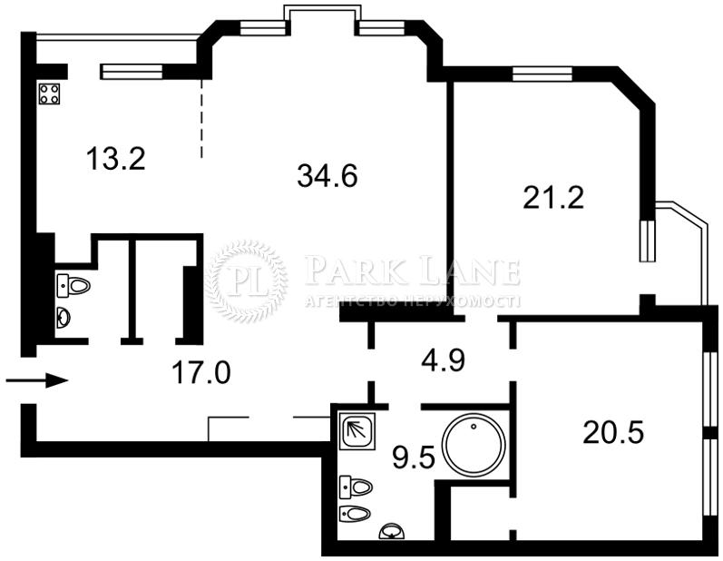 Квартира ул. Коновальца Евгения (Щорса), 32б, Киев, R-3990 - Фото 2