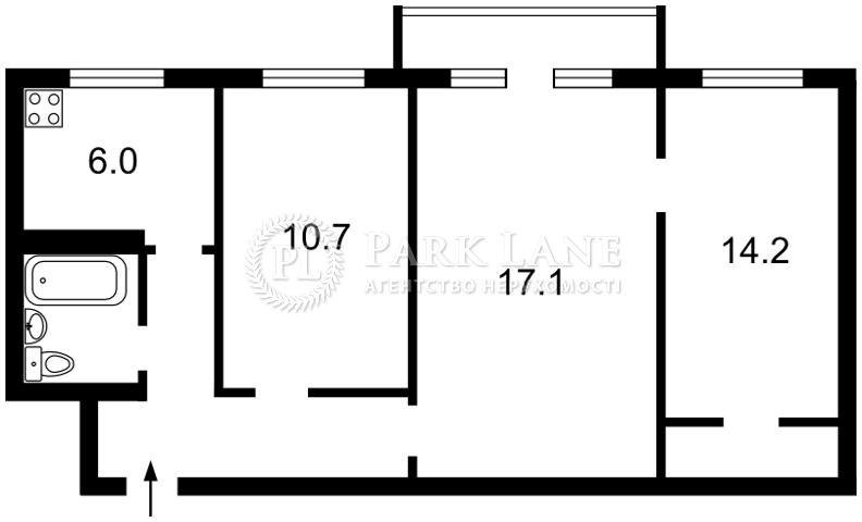 Квартира ул. Василенко Николая, 14а, Киев, Z-147070 - Фото 2