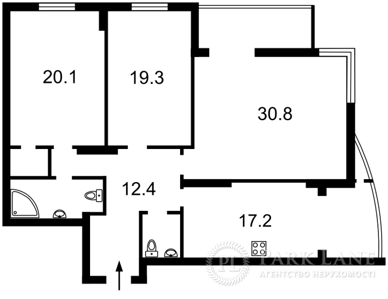 Квартира Лобановского просп. (Краснозвездный просп.), 4в, Киев, K-23309 - Фото 2
