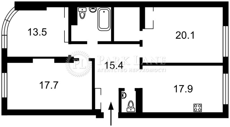 Квартира ул. Ахматовой, 30, Киев, Z-127804 - Фото 2