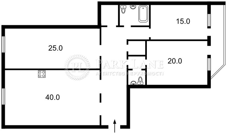 Квартира ул. Урловская, 11/44, Киев, Z-36425 - Фото 2