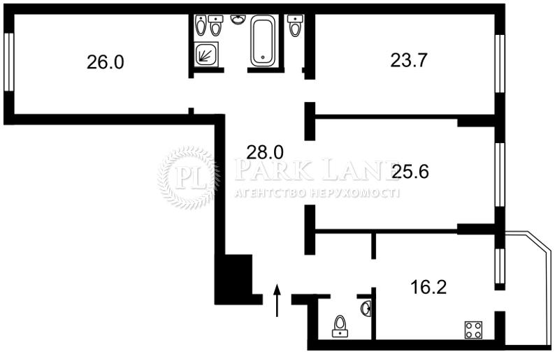 Квартира X-1897, Черновола Вячеслава, 20, Киев - Фото 4