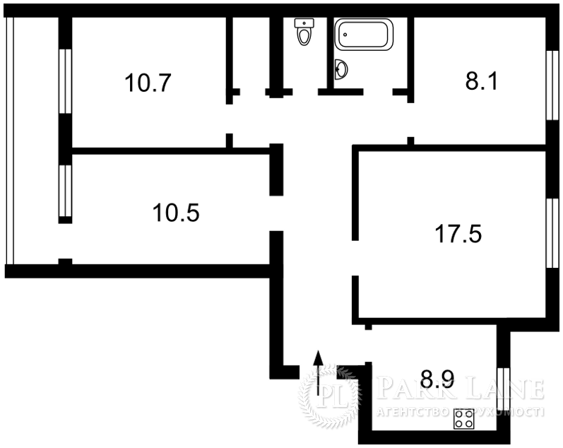 Квартира ул. Автозаводская, 5а, Киев, Z-213120 - Фото 2