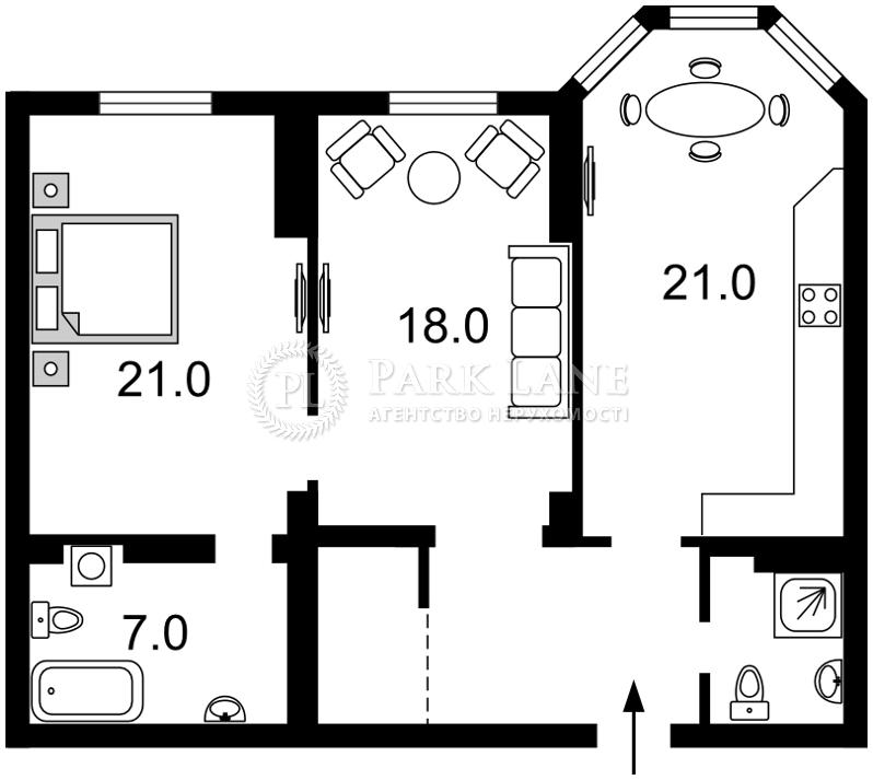 Квартира ул. Полтавская, 10, Киев, Z-244286 - Фото 2