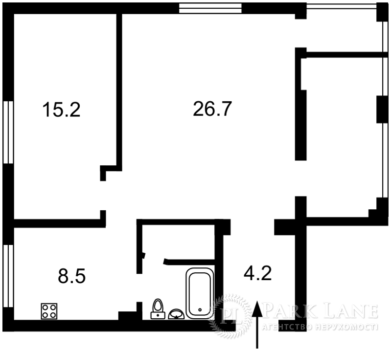 Квартира Воздухофлотский просп., 33/2, Киев, K-24856 - Фото 2