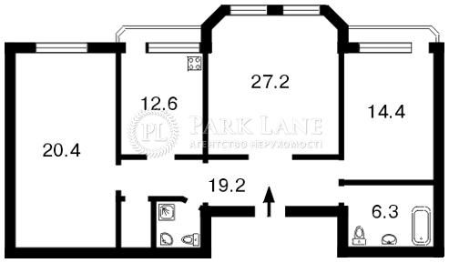 Квартира ул. Коновальца Евгения (Щорса), 32б, Киев, F-13206 - Фото 2